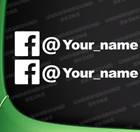 FACEBOOK YOUR NAME X2 FUNNY JDM DRIFT EURO WINDOW VW VINYL DECAL CAR STICKER
