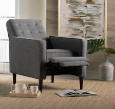 Gray Reclining Accent Chair Office Bedroom Furniture Living Room Chairs Home New