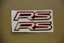 X2 RS IMPREZA 2.5 CAMARO CIVIC INTEGRA DECAL CONSOLE FENDER DASH EMBLEM BADGE