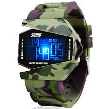 Reloj Hombre Mujer B2 Camuflaje Resistente Agua Múltiples Funciones LED Digital