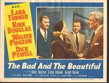 1953 MOVIE LOBBY CARD #1-580 - BAD AND THE BEAUTIFUL - LANA TURNER