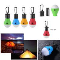 1*Aussen Hängelampe mit je 3 LED Camping Zelt Glühbirne Angeln Laterne+Karabiner