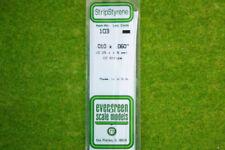 EVERGREEN STRIP STYRENE WHITE Plasticard .010 x .060 #103