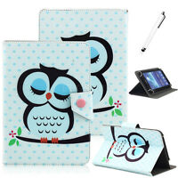 """Universal 7"""" Inch Android Tablet Case Folio Leather Stand Folding Cover + Stylus"""