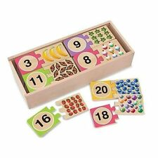 Melissa & Doug - Number Wooden Puzzle Cards Mnd2542 Post Kids Toys