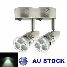 2X 12V Cool White LED Cabinet Bed Side Light Reading Wall Bedside Lamp Switch On