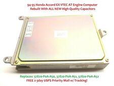 1994-1995 Honda Accord Ecu Ex Vtec At Engine Computer 2.2L 37820-P0A-A52 Rebuilt