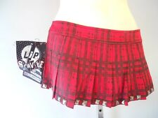 Nos Lip Service Red Plaid Mini Stud Skirt Pleated Punk Corrosion Of Conformity S