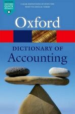 A Dictionary of Accounting (Oxford Quick Reference) Book The Fast Free Shipping