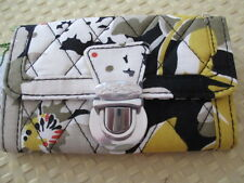 Vera Bradley~ DOGWOOD~Quick Swipe ID Case Wallet ~ CREDIT CARD SWIPE AND GO