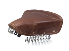 New Lycett Pure Leather Front Solo Saddle Seat For Royal Enfield Classic Brown