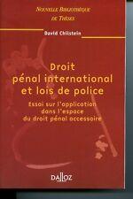 Droit pénal international et lois de police