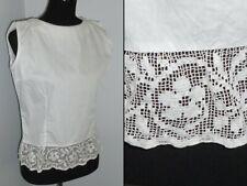 Antique Camisole Victorian Edwardian Corset Cover Blouse Bobbin Lace Cotton