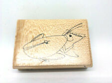 Tampon encre Aladine bois - Sauterelle Criquet Invitation