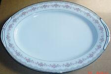Noritake GLENWOOD 5770 Large Platter Pink Roses With Platinum Trim