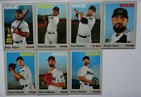2019 Topps Heritage High Number Miami Marlins Base Team Set Of 7 Cards
