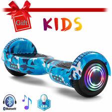 Hoverboard Blau Bunt 6,5 Zoll Elektro Scooter Bluetooth Für Kinder E-Skateboard