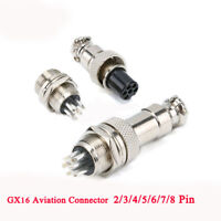 GX16 Contacts 2/3/4/5/6/7/8 Pin Aviation Connector Plug Socket Male/Female 5A