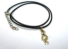 Kleiner Kokopelli Anhänger Band Halsband Kette 2,5 cm Hopi Indianer Halskette