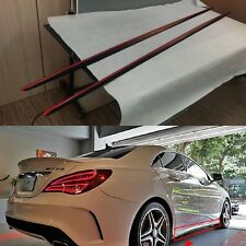 Paint BLACK +  Red Metallic FOR BENZ W117 CLA X117 Sport Side Skirt Cover Add