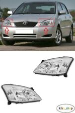 FOR TOYOTA COROLLA E12 HATCBACK 2002 - 2003.12 FRONT HEADLAMPS LEFT + RIGHT LHD