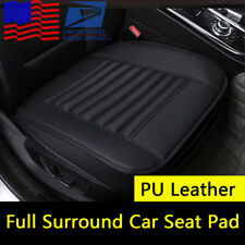 Full Surround PU Leather Car Seat Pad Cushion Protector Bamboo Charcoal US Stock