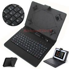 For Amazon Kindle Fire HD 8 8th Gen (2018) Micro USB Keyboard Leather Case Cover