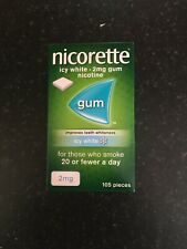 Nicorette Icy White Nicotine Gum, 2mg - 105 Pieces Exp 03/22