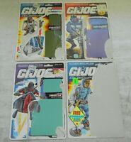 Lot 1990 GI Joe Cobra File Card Backs Stretcher Undertow Night Creeper Sub Zero