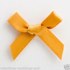 Small 3cm Pre Tied Satin Mini Bows - Pack of 1, 10, 25 or 100 - 6mm Ribbon