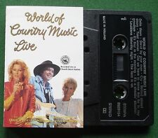 World Of Country Music Live Charlie Rich George Jones + Cassette Tape - TESTED