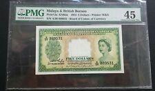 1953 MALAYA $5 A/36 889531 PMG45 EF