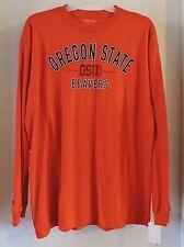 Oregon State Beavers Men's Long Sleeve T-shirt Orange-Size Large NWT