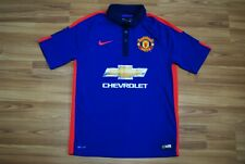 MANCHESTER UNITED 2014-2015 THIRD FOOTBALL JERSEY SHIRT SIZE MENS MEDIUM BLUE