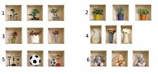 2 X Nisha Home Decor Wall Art 3D Vinyl Decals Stickers - Set of 3 - FREE Shippin