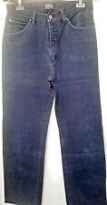 GIANFRANCO FERRE Jeans MEN Navy BLUE Cotton PANTS 34/48 HIGH RISE From Italy EUC