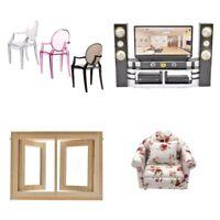 1/6 Dollhouse Miniature Armchair Chair Sofa Toy Doll House Furniture Home Decor