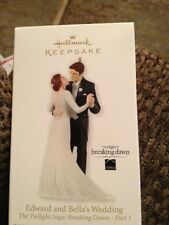 Hallmark Breaking Dawn Twilight Edward & Bella's Wedding Ornament NEW