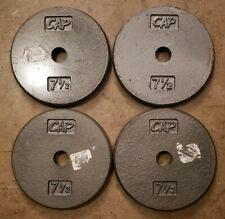 Cap Standard Size Barbell Weights - Four 7.5 Lb Plates home gym Pancake plates