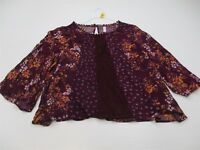 new XHILARATION Women's Size 2XL Classic Floral Print Loose Maroon Blouse TY2586