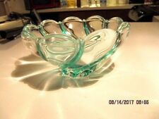 CRYSTAL CANDY BOWL GREEN ACCENTS