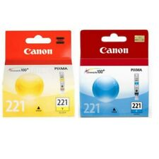 Genuine Canon CLI-221 CLI-221C CLI221-Y Cyan Yellow Ink Cartridges New Sealed