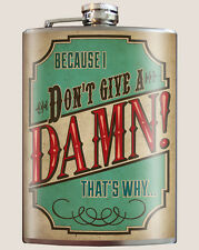 Genuine Trixie & Milo Flask With Funnel - Don't Give a Damn