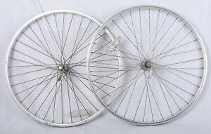 """Vintage Shimano Araya 26x1.5"""" Mountain Bike Wheelset HB-M451 FH-M452 7 speed"""