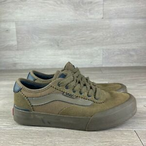 Boys Youth Brown Vans Size 3.5