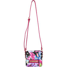 Braccialini fashion mini crossbody bag with floral print studs pink black blue