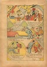 Caricature par Lorio Phono Mode Fashion Robe de Soie Dog Paris 1935 ILLUSTRATION