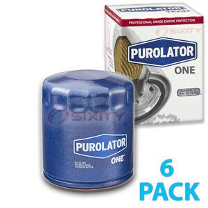 6 pc PurolatorONE PL10241 Engine Oil Filters for Oil Change Lubricant fc