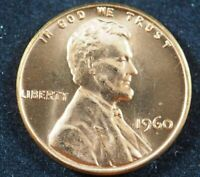 1960 P Lincoln Memorial Cent Penny (BU) Brilliant Uncirculated US Coin