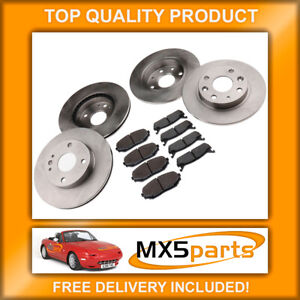 MX5 Brake Discs and Pads Full Front & Rear Set Mazda MX-5 Mk1 NA 1.6 1989>1998